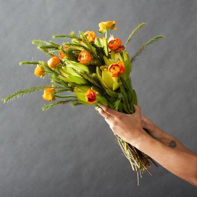 Fresh Orange Ranunculus Bunch