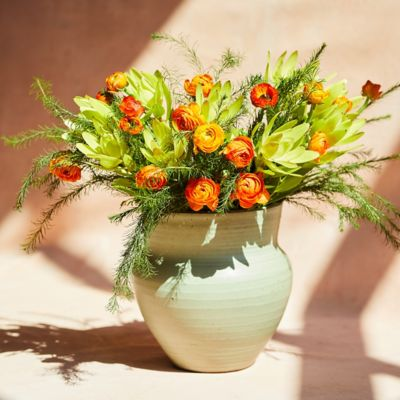 Fresh Orange Ranunculus Bunch