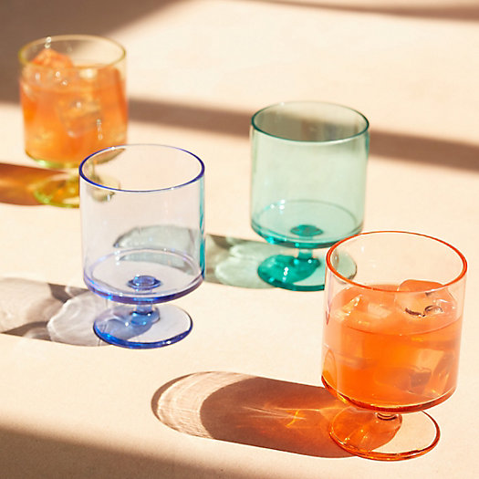 View larger image of Rainbow Acrylic Stemmed Tumblers, Set of 4