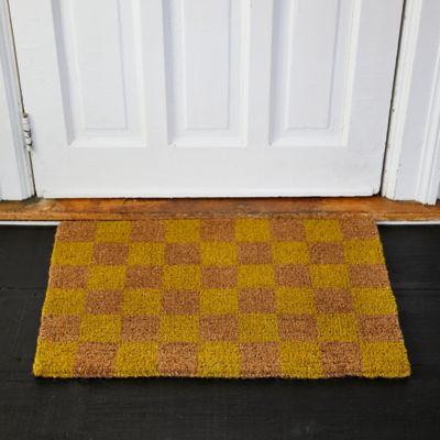 Checked Doormat