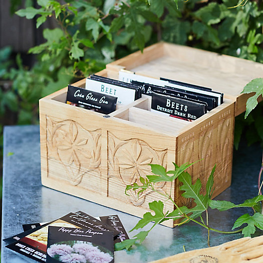 View larger image of Hand Carved Seed Storage Box