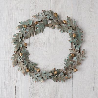Verdigris Oak + Acorn Wreath
