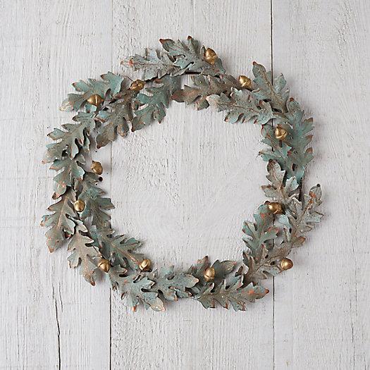 View larger image of Verdigris Oak + Acorn Wreath