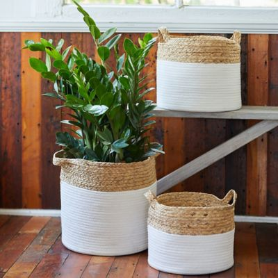 Color Block Woven Baskets, Set of 3