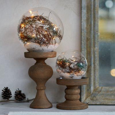 Pre-lit LED Pine Forest Globe