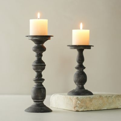 Black Iron Candlestick