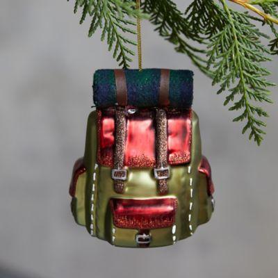 Backpack Glass Ornament