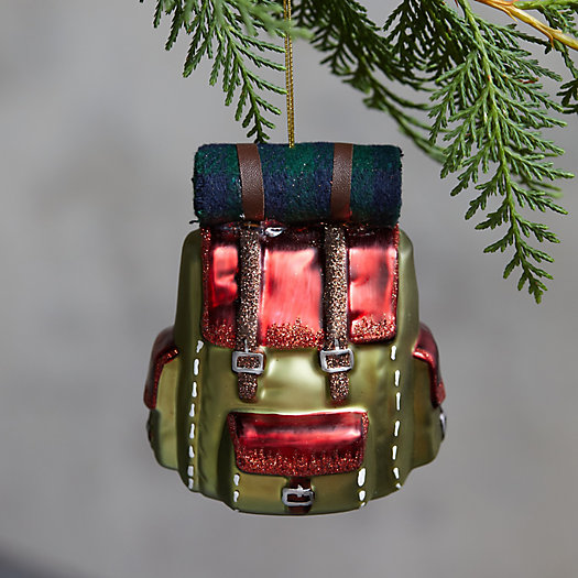 View larger image of Backpack Glass Ornament