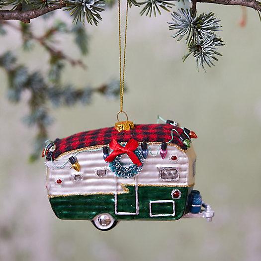 View larger image of Camper Van Glass Ornament
