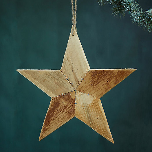 View larger image of Starry Pine Wood Ornament