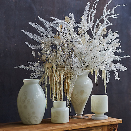 View larger image of Etched Milky Glass Vase