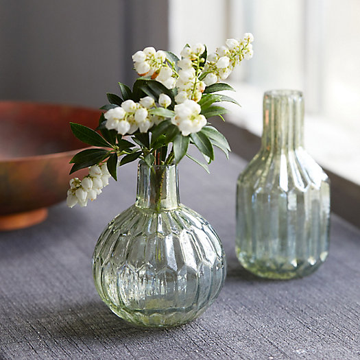 View larger image of Fluted Mercury Glass Bud Vases, Set of 2