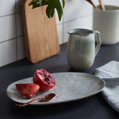 Textured Ceramic Serving Tray