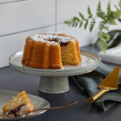Ceramic Gray Cake Stand