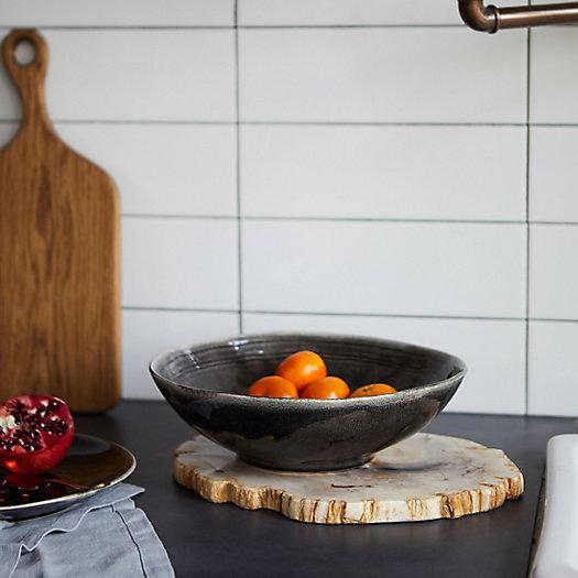 View larger image of Black Ceramic Serving Bowl