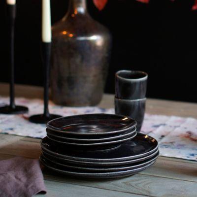 Black Ceramic Dinner Plate