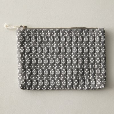 Block Print Cotton Pouch