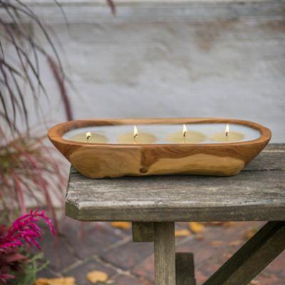 Himalayan Teak Trough Candle, Summer Night Citronella