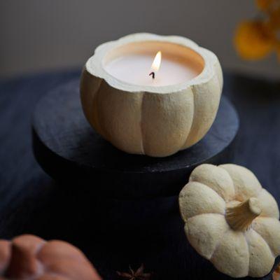 Ceramic Candle, Pumpkin