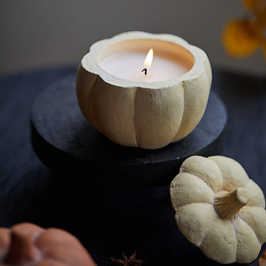View larger image of Ceramic Candle, Pumpkin