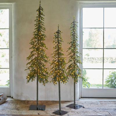 Faux Pre-lit LED Alpine Tree