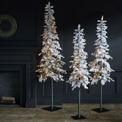 Faux Snowy Pre-lit LED Alpine Tree