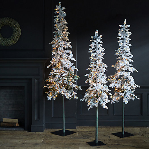 View larger image of Faux Snowy Pre-lit LED Alpine Tree