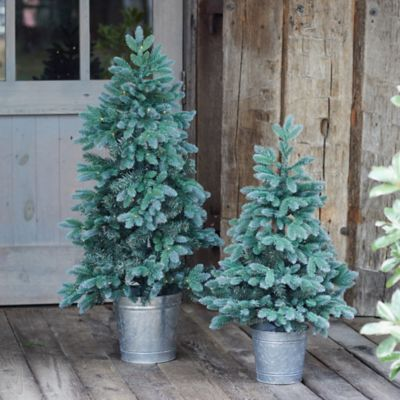 Faux Pre-lit LED Trondheim Potted Tabletop Tree