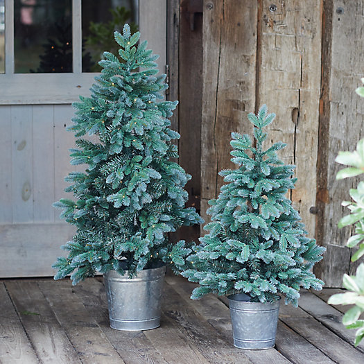 View larger image of Faux Pre-lit LED Trondheim Potted Tabletop Tree