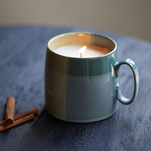 View larger image of Plaid Mug Candle, Hot Cider