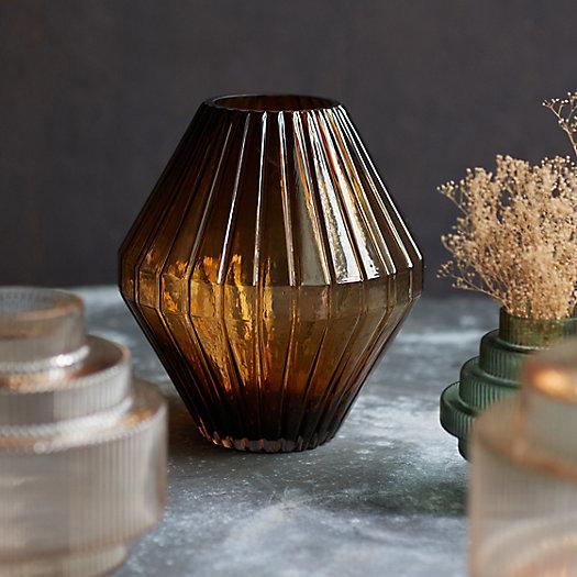 View larger image of Geo Ridge Glass Vase