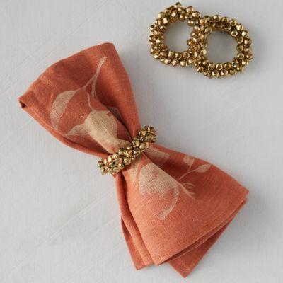 Jingle Bell Napkin Ring Holders, Set of 4