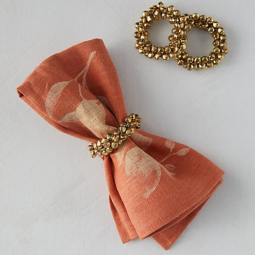 View larger image of Jingle Bell Napkin Ring Holders, Set of 4