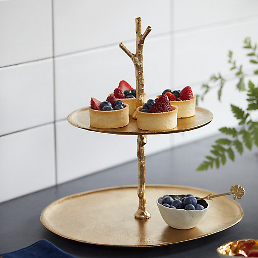 View larger image of Birch Branch 2-Tier Serving Tray