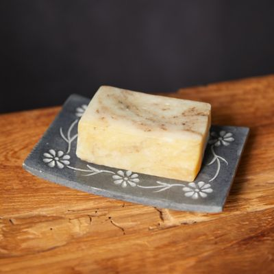 Floral Stone Soap Dish