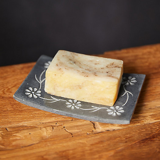 View larger image of Floral Stone Soap Dish
