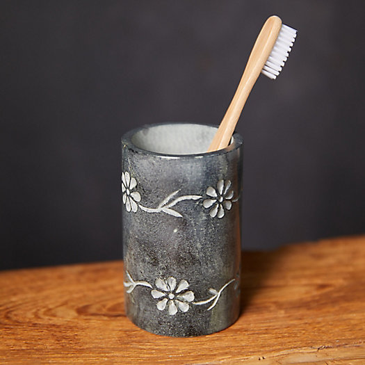 View larger image of Floral Stone Bath Tumbler