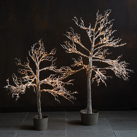 View larger image of Pre-lit LED Faux Winter Tree