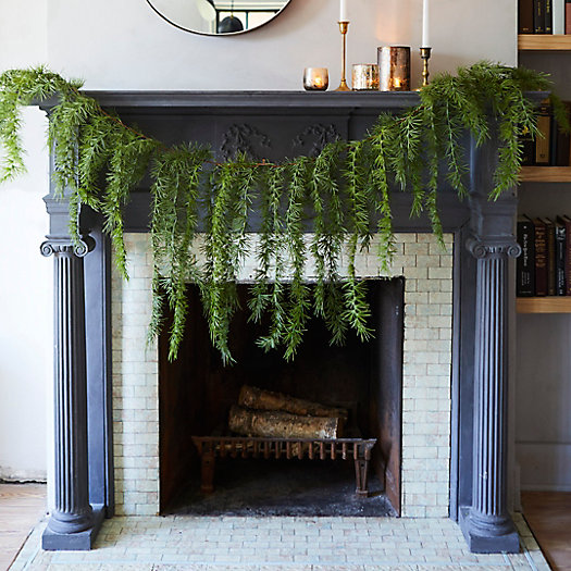 View larger image of Faux Trailing Cedar Garland, 6.5 Feet