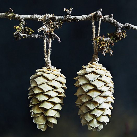 View larger image of Waxed Pinecone Ornaments, Set of 2