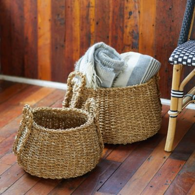 Low Seagrass Baskets, Set of 2