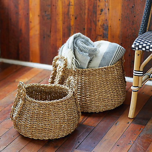 View larger image of Low Seagrass Baskets, Set of 2