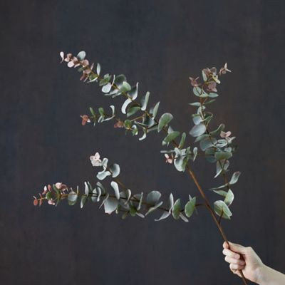 Faux Flowering Eucalyptus Spray