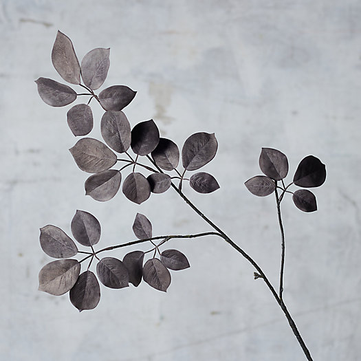 View larger image of Faux Leaf Spray, Gray