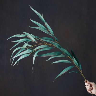Faux Eucalyptus Leaf Spray