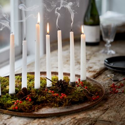 Iron Candlestick Dish, 8 Holders