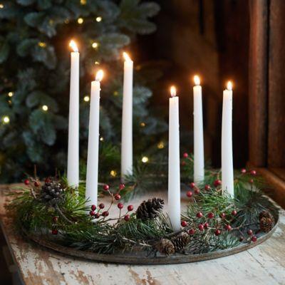 Iron Candlestick Dish, 6 Holders