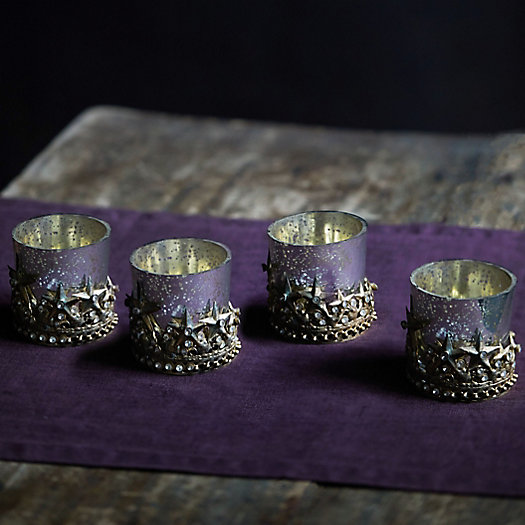 View larger image of Starry Crown Tea Light Holders, Set of 4
