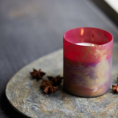 Linnea Marbled Metallic Candle Collection