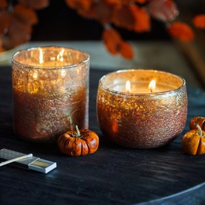 Linnea Metallic Candle, Pumpkin